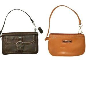 Bundle of 2 - Coach and Calvin Klein Wristlets